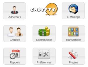 Les différents outils de l'application galette